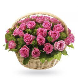 Букет № 174 «Розовое лукошко»